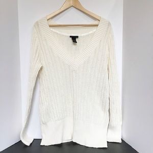 Lane Bryant Cable Knit Sweater Creamy White 14/16